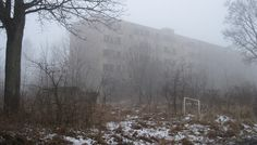 Klomino, an abandoned former Soviet military base in Poland. It's for sale, if anyone's interested......
