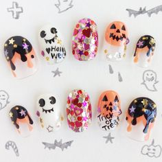Very very very cute☆ Have a good Halloween day with our lovely nail tips.    --Our web store have japanese kawaii nail tips. Our all products are made