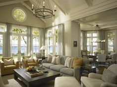 comfortable living room by Hickman Design Associates