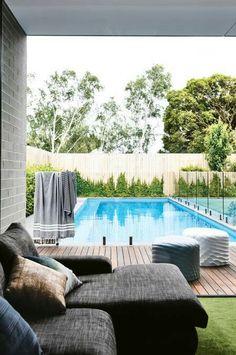 Backyard Pool Designs, Swimming Pools Backyard, Swimming Pool Designs, Pool Decks, Backyard Landscaping, Landscaping Ideas, Pool And Deck Ideas, Lap Pools, Indoor Pools