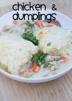 A classic recipe for Chicken & Dumplings ~ part of our 31 Days of Chili, Soups & Stews series   5DollarDinners.com