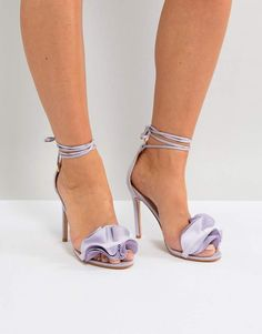 Shop Public Desire Sugar Lilac Heeled Sandals at ASOS. Order now with multiple payment and delivery options, including free and unlimited next day delivery (Ts&Cs apply). Lilac Heels, Gladiator Heels, Heeled Sandals, High Heels, Shoes Heels, Public Desire, Pastel Fashion, Wedding Heels, Purple Lilac