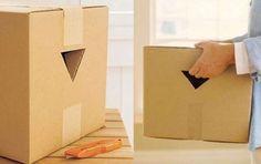 Découpez des poignées pour porter vos cartons plus facilement