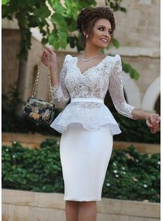 Long Sleeves Knee Length Homecoming Dresses,Sheath Lace Prom Dress,Dress For Homecoming, Shop plus-sized prom dresses for curvy figures and plus-size party dresses. Ball gowns for prom in plus sizes and short plus-sized prom dresses for Dresses Short, Ball Dresses, Ball Gowns, Evening Dresses, Dresses 2016, Summer Dresses, Knee Length Cocktail Dress, Short Cocktail Dress, Cocktail Dresses