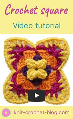 Beautiful crochet square to use in blankets, bags, throws or small projects like hairbands. Easy to crochet, clear step by step instructions on how to crochet.