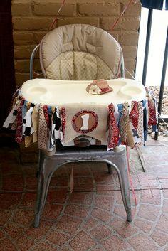 Western Cowgirl First Birthday High Chair Decorative Banner