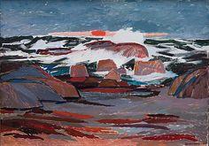 TOVE JANSSON RANTA. Signeerattu ja päivätty -60. Öljy kankaalle 77x104 cm.