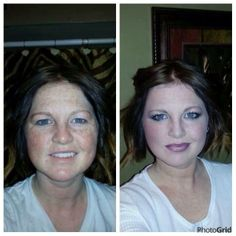 Before and after - makeup looking great and those lashes...