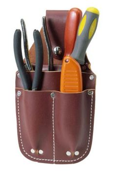 Occidental Leather 5057 Pocket Caddy for sale online Leather Tool Pouches, Leather Holster, Tool Belt Suspenders, Electrician Tool Bag, Occidental Leather, Leather Tooling Patterns, Leather Projects, Leather Crafts, Leather Accessories