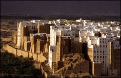 Shibam, ancient City in the Yemen. There has been habitation here for at least for years. Shibam is now a World Heritage Site. The Beautiful Country, Beautiful Places, South Yemen, Foto Nature, Arabian Peninsula, Ancient Buildings, Old City, World Heritage Sites, At Least