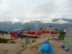 Last campsite- Day 3- On top of the world! Never seen anything like this before. It was sureal. Almost 360 degree views of the mountains :0)