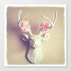 What a Deer Stretched Canvas by simplyhue - $85.00