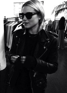 Sunnies and leather.