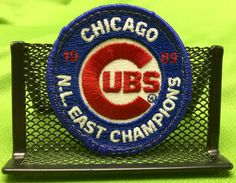 Chicago Cubs N.L. East Champions 1989 Patch by CoryCranksOutHats on Etsy