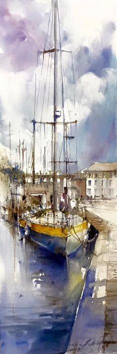 Fabio Cembranelli - Paintings · Morlaix 2, Watercolor, 2016