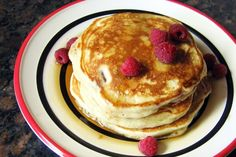Fluffy Pecan Buttermilk Pancakes