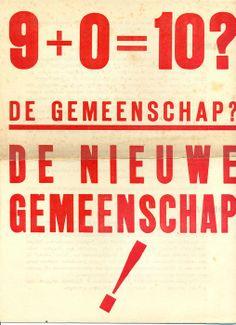Letterkunde; De nieuwe gemeenschap - Eerste nummer - 1934