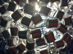 Coiled ball lamp shade