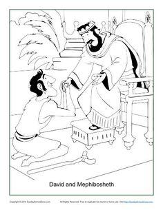 David and Mephibosheth Coloring Page