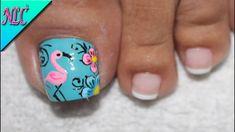 Toe Nail Art, Toe Nails, Pedicure Designs, Nail Designs, Purple And Pink Nails, Flamingo Nails, French Flowers, Mani Pedi, Manicures
