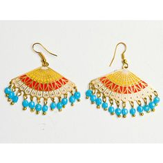 (vintage) Japanese Fan Earrings, made with love in India, $26, Spring/Summer 2012