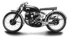 Minichamps MIN122134600 1955 Vincent-HRD Black Lightning Motorcycle - Black (1:12 Scale)