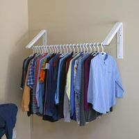 InstaHANGER Model AH3x12-M Collapsible Wall Mounted Clothes Hanging System