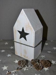"""Holzhaus """"Stars&Heart""""XL von Annas Livsstil auf DaWanda.com"""