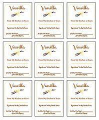 DIY Homemade Vanilla Extract Labels