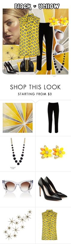 """""""Untitled #83"""" by maha-asa ❤ liked on Polyvore featuring Intelligent Design, Lafayette 148 New York, Thierry Lasry, Alexander McQueen, Global Views, Boutique Moschino and Braccialini"""