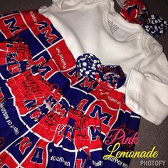 Ole Miss themed layette gown, layette gown, Ole Miss, Hotty Toddy, gown, infant gown, newborn gown on Etsy, $37.00