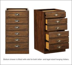 """Printer's 3-Drawer File Pedestal 