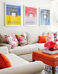 Orange is the perfect transitional color for summer to fall! -Lush Fab Glam Blogazine: Transition From Summer To Fall With Orange Decor.