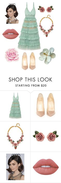 """""""Untitled #36"""" by larachu on Polyvore featuring Elie Saab, Christian Louboutin, Dolce&Gabbana, COS and Lime Crime"""