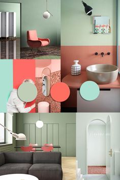 00 COLOR TRENDS 2020 starting from Pantone 2019 Living Coral matches Coole Farbtrends für 2020 ab Pantone 2019 Living Coral Interior Design Blogs, Color Interior, Interior Sketch, Colorful Decor, Colorful Interiors, Color Palette For Home, Küchen Design, Design Color, Brand Identity