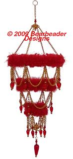 "Gilded 'Fuzzy"" Chandelier from plastic canvas  #plasticcanvas #chandelierornament"