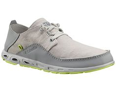Columbia Men's Bahama Vent Relaxed PFG Casual Boat Shoes, Grey Leather, ...