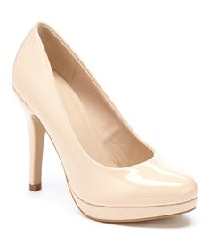 Look at this Elite Footwear Nude Patent Betty Pump on #zulily today!