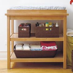 The Land of Nod | Baby Changers: Baby Natural Wood Changing Table in Changers