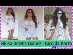 Blusa em Croché Selena Gomez - Aula 5 - Montando Corpinho - YouTube