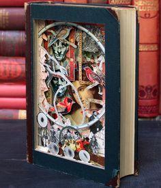 Book sculpting by Alexander Korzer-Robinson