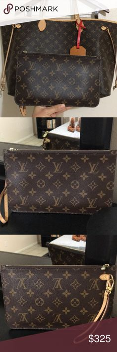 f1e6b03c237f Pochette ♥ Selling ONLY the pochette that comes with the Louis Vuitton  Neverfull handbags.