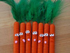 Polymer Clay Carrot Pens by handmademom