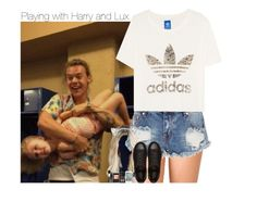 """Playing with Harry and Lux"" by talitastyles ❤ liked on Polyvore featuring Forever 21, One Teaspoon and adidas Originals"
