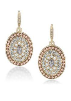 Carolee  Casablanca Cachet Pave Pearl Drop Earrings