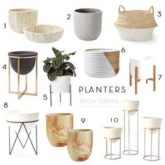 Our Planter RoundupBECKI OWENS is part of House plants indoor - For today's roundup we're thinking big, with oversized floor planters in beautiful neutrals that are perfect for adding life to empty corners Interior Design Living Room, Living Room Decor, Sweet Home, House Plants Decor, Interior Plants, New Homes, Flooring, House Styles, Furniture
