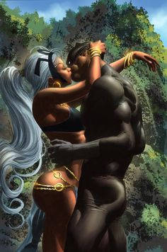 Storm and Black Panther •Mike Deodato Jr