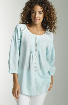 J.Jill Lace-Inset Blouse. Lovely. Hope this goes on sale.