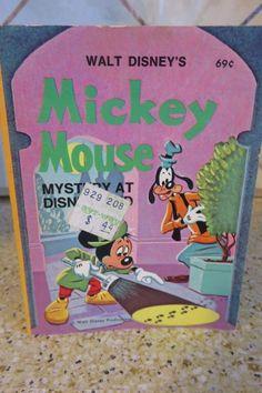 1975 Big Little Book Walt Disney's MICKEY MOUSE Mystery at Disneyland #5770