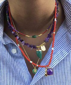 Hippie Jewelry, Cute Jewelry, Gold Jewelry, Beaded Jewelry, Jewelery, Jewelry Accessories, Handmade Jewelry, Beaded Necklace, Modern Jewelry